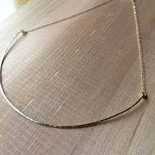 fashion jewelry silver necklace images The new yorker choker 925 sterling silver 14k gold filling jpg