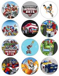 transformer rescue bots party supplies free printable transformers cupcake toppers transformers
