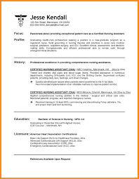 Sample Resume For Cna Job 6 Sample Resume Cna Azzurra Castle Grenada