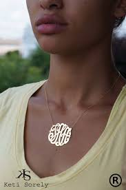 large monogram necklace monogram necklace personalized initial necklace small to