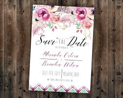 affordable save the dates boho save the date cards bohemian wedding save the date boho