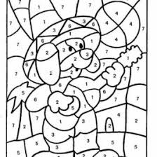 coloring pages color by number worksheets 1 10 color by number