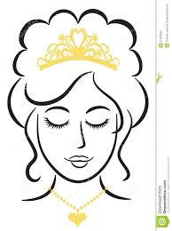 elegant princess with tiara eps stock vector image 25465300