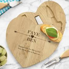 cheese board engraved engraved wooden heart cheese board set cupid arrows glamorous