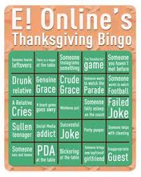exclusive thanksgiving bingo for your dinner table