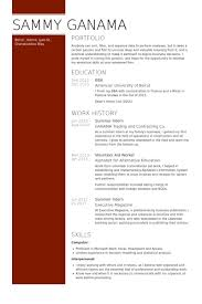 Resume Samples For Banking Sector by Summer Intern Resume Samples Visualcv Resume Samples Database