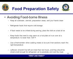 thanksgiving safety brief food preparation safety commander s