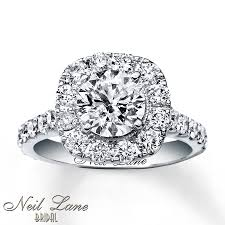 neil engagement neil engagement ring 2 3 4 ct tw diamonds 14k white gold