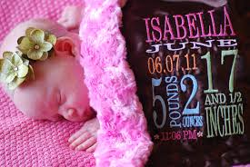 engraved blankets baby personalized birth stats fluffy blanket minky faux fur