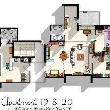 tv show apartment floor plans friends tv show apartment floor plan friends tv show layout the