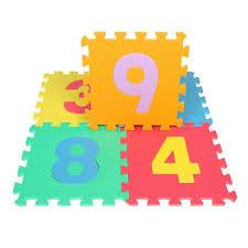 tappeti ad incastro sviluppo morbido per bambini strisciare tappeti numeri gioco