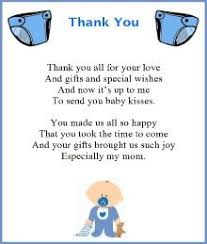 Baby Verses For Baby Shower - baby shower thank you poems from unborn baby poem babies and