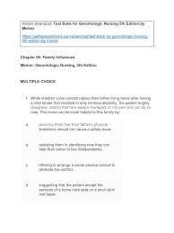 test bank for gerontologic nursing 5th edition by meiner