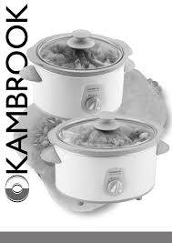 kambrook slow cooker ksc4 user guide manualsonline com