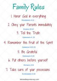 family rules bible verses