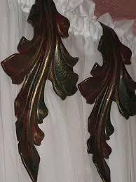 Metal Curtain Tiebacks Pair Of Vintage Metal Curtain Drape Tie Backs In Curved Leaf