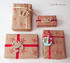 beautiful christmas wrapping paper nautical inspired diy wrapping paper mod podge rocks