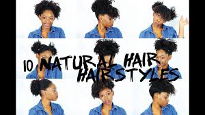 10 quick natural hairstyles for short medium natural hair youtube