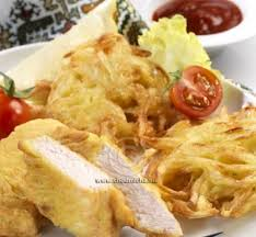 oignon blanc cuisine recette escalopes de poulet et beignets d oignon blanc