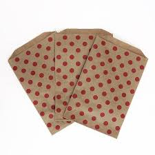 christmas paper bags polka dot brown paper bags by blossom