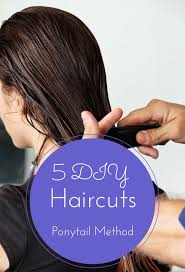 ponytail haircut technique 5 quick and easy diy haircuts you need to see top
