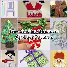 free crochet christmas applique patterns the lavender chair