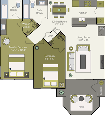 Wh Floor Plan by Luxury Apartments In Peoria Sonoma Ridge Apartments Floor Plans