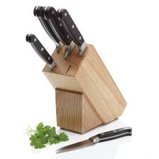 devil kitchen knives masterclass halo 5 piece carbon steel knife set and knife block