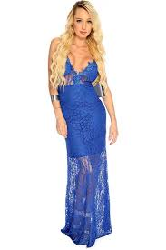 womens clothing party dresses royal blue floral lace bodycon
