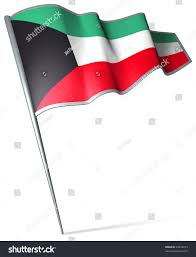 Pin Flags Flag Pin Kuwait Stock Illustration 28414213 Shutterstock