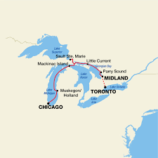 Map Of Michigan Lakes Great Lakes Cruise Pearl Seas Defining Luxury Adventure