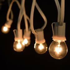 c9 incandescent light strings 50 white commercial clear globe light strand