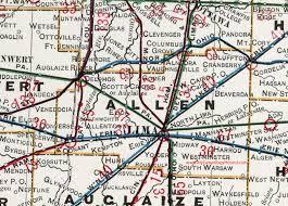 map of allen allen county ohio 1901 map lima oh