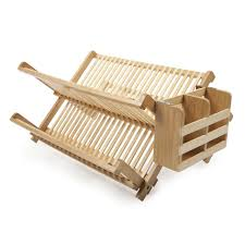 kitchen chic core bamboo dish rack with utensils holder cool