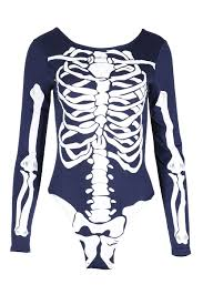 womens jersey skeleton bones halloween ladiesbodycon tunic t shirt