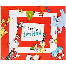 evite halloween invitations dr seuss 1st birthday invitations 8 pack walmart com