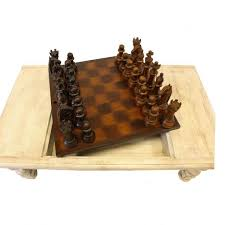 chess board coffee table bishop chess game table wood old world coffee table