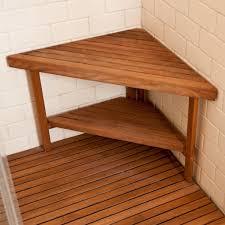 bathroom corner teak shower stools on cozy teak shower mat and