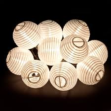 White Paper Lantern String Lights by Chinese Lantern String Lights Outdoor Hanging Light String White
