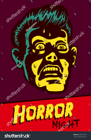 coupon for halloween horror nights horror night halloween party movie night stock vector 323547233