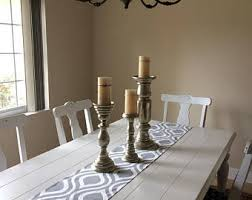 Table Runners For Dining Room Table Grey Table Runner Etsy