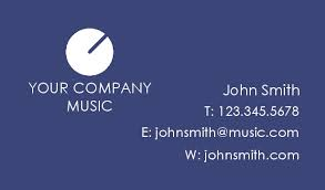 Business Card Music Music Business Cards Business Cards With Musical Themes