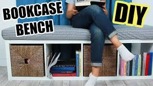 bookcase bench diy bookcase bench youtube