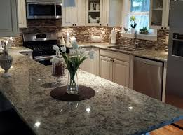 granite countertop slim kitchen wall cabinets tin backsplash