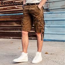 Comfort Waist Mens Shorts Cargo Shorts Mens 2017 New Summer Shorts Men Cotton Knee Length