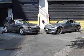 2017 fiat 124 vs 2016 mazda mx 5 what two miata faithfuls think