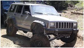 baja jeep cherokee jeep flat style fender flare set of 4 oe matte black 10922