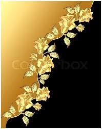 golden roses illustration background with pattern golden diagonally