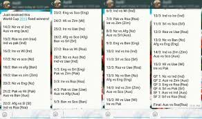 Cricket World Cup Table Icc World Cup 2015 Whatsapp Message Says World Cup Is Fixed