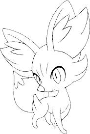 coloring pages pokemon fennekin drawings pokemon
